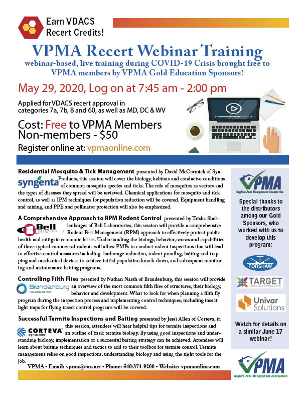 VPMA Recert Webinar Flyer May 29
